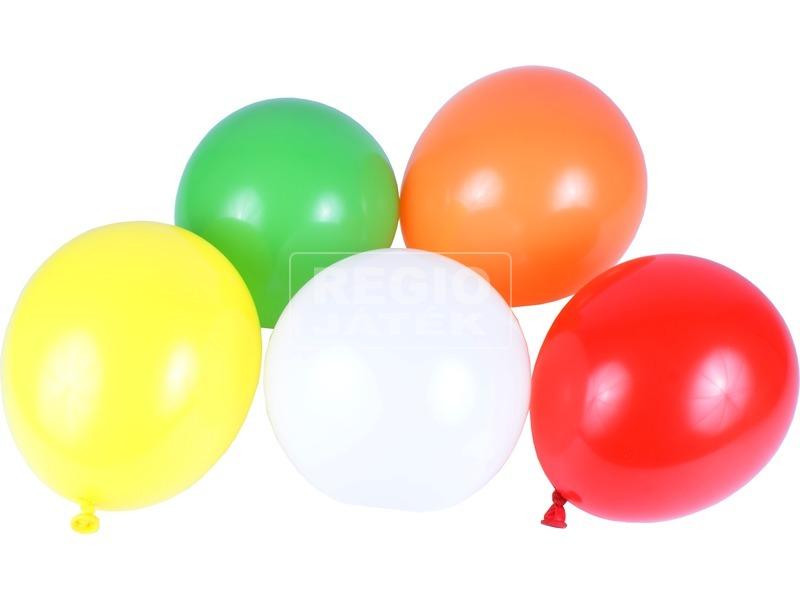 Gömb lufi 10 darabos készlet - vegyes színek