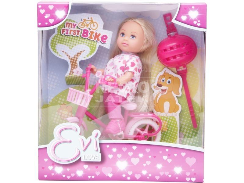 Évi Love baba biciklivel - 12 cm, többféle