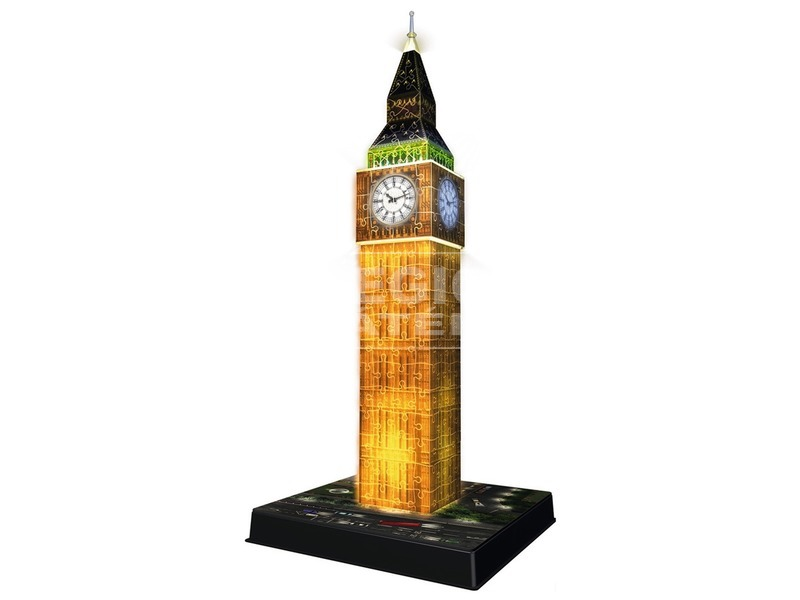 kép nagyítása Big Ben 216 darabos 3D puzzle fénnyel