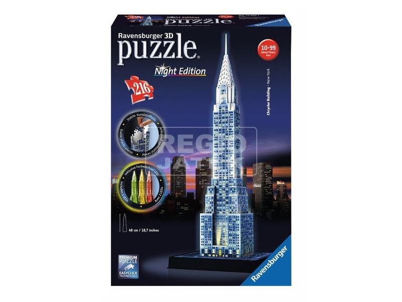 Puzzle 3D 216 db - Chrysler épület világító