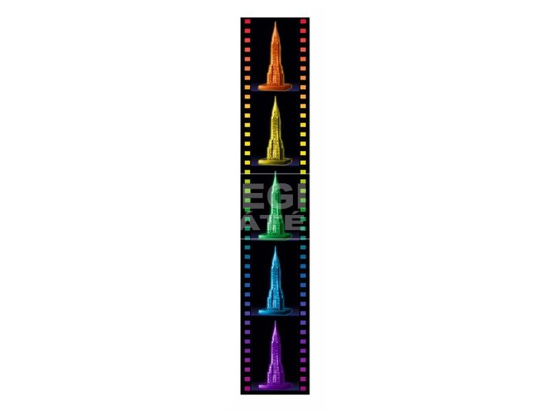 kép nagyítása Chrysler épület 216 darabos 3D puzzle fénnyel