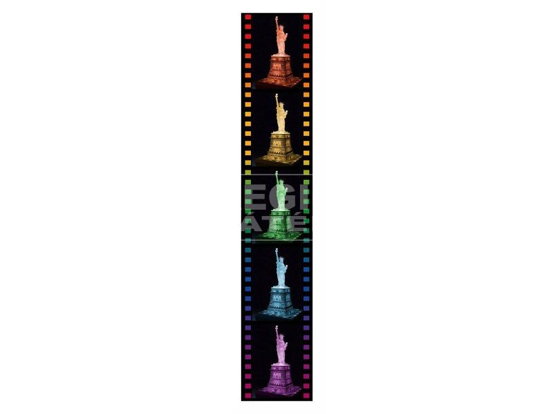 kép nagyítása Puzzle 3D 216 db - Szabadságszobor világító