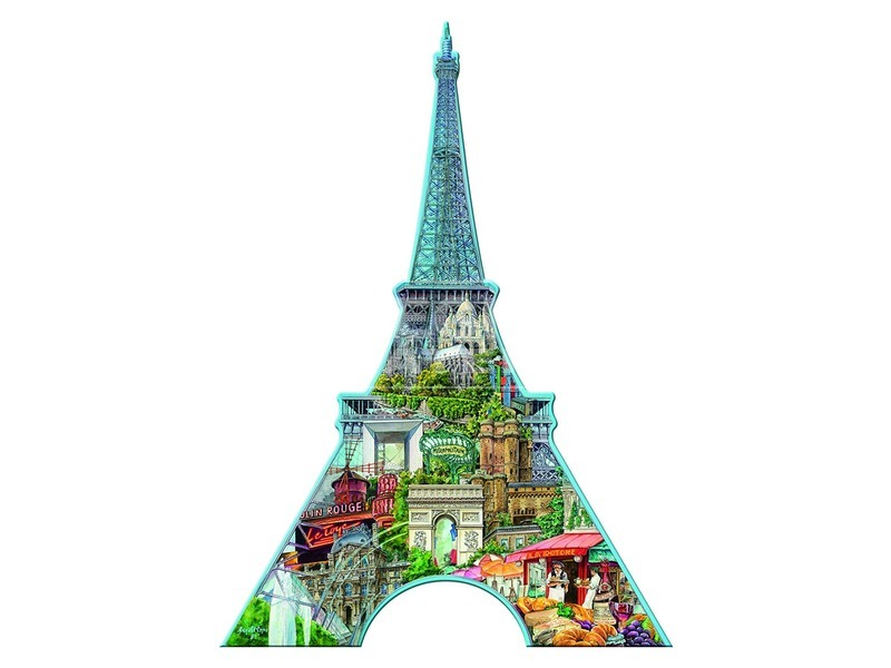 kép nagyítása Eiffel torony 960 darabos sziluett puzzle
