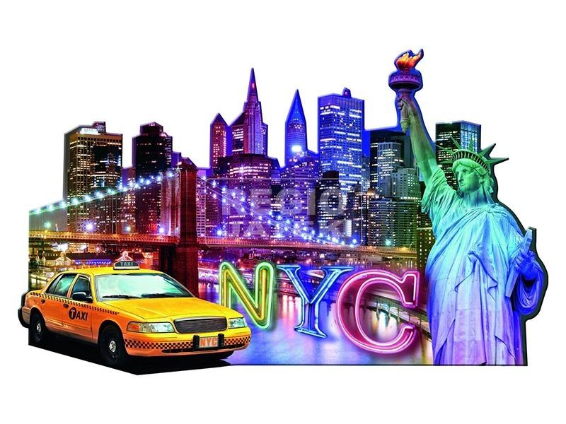 kép nagyítása Puzzle sziluett 800-1200 db - New York