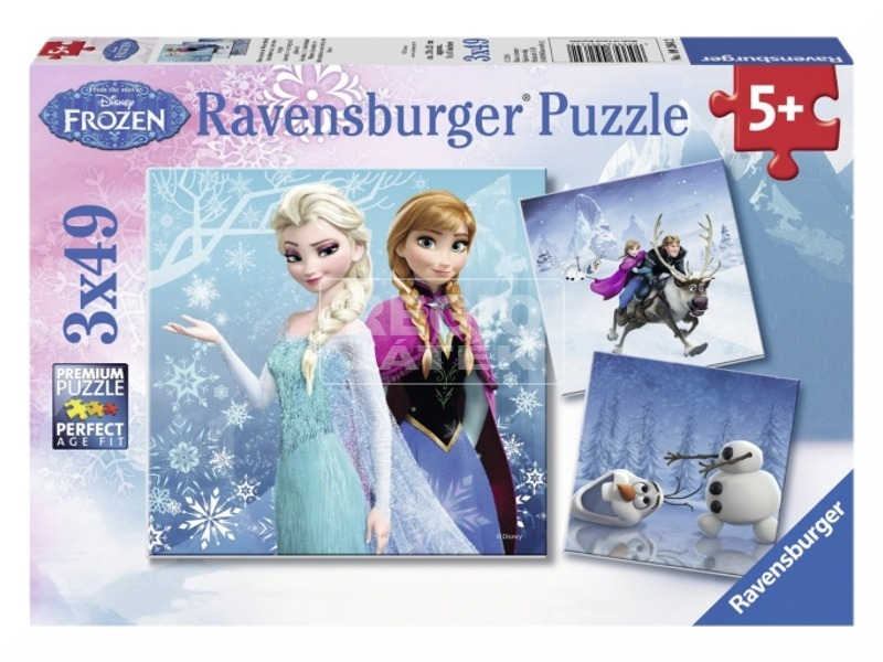 Puzzle 3x49 db - Jégvarázs jeges kaland