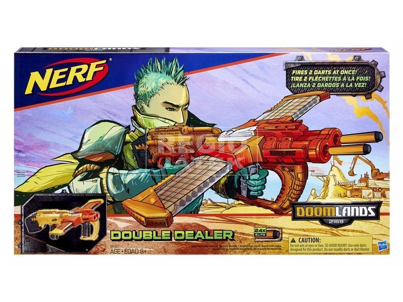 NERF Doomlands Double Dealer szivacslövő fegyver