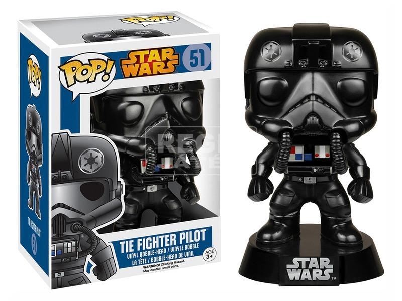 Star Wars Tie Fighter pilóta bólogató figura - 16 cm