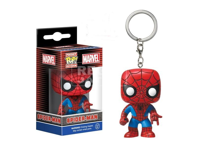 Pókember: kulcstartó bólogató figura - 7 cm