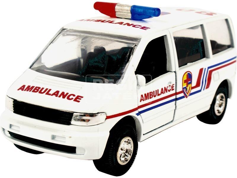 Tűzoltó furgon fém autó - 12 cm, többféle