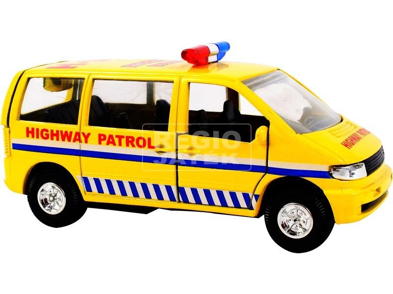 kép nagyítása Tűzoltó furgon fém autó - 12 cm, többféle