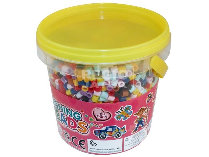 Vasalható gyöngy vödörben 5000 darabos készlet