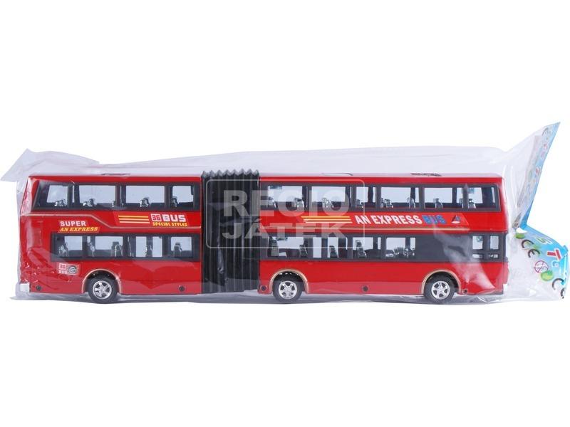 kép nagyítása Express emeletes busz - piros, 35 cm