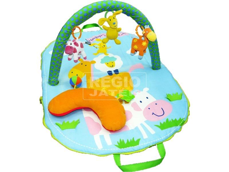 Puha állatos játszószőnyeg bébijáték