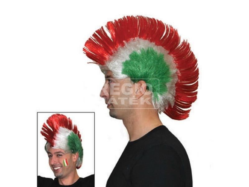 Punk paróka - piros-fehér-zöld