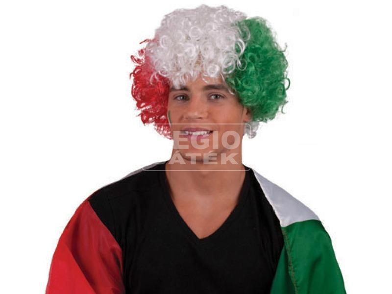 Afro paróka - piros-fehér-zöld
