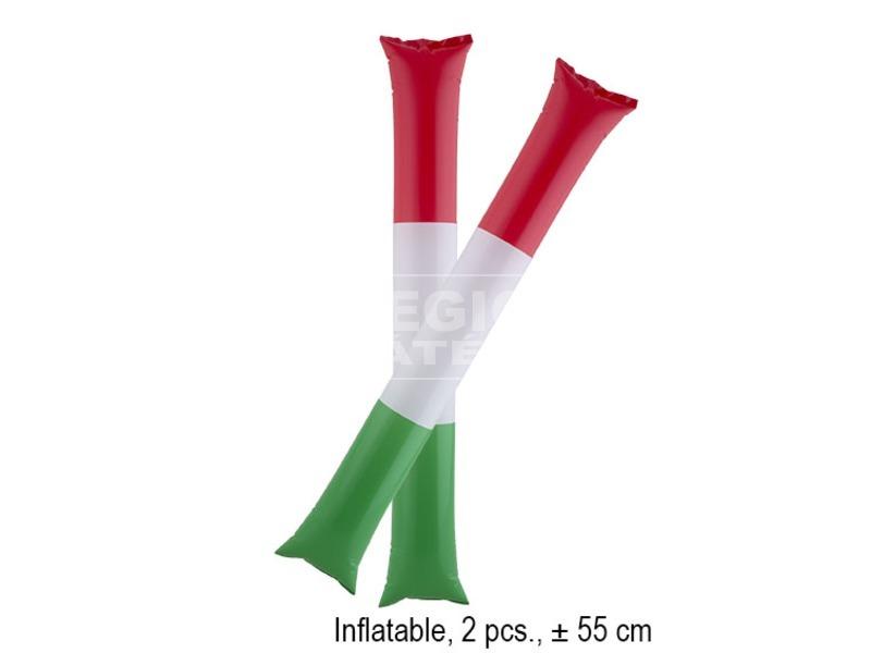 Szurkolói rúd 2 darabos készlet - piros-fehér-zöld