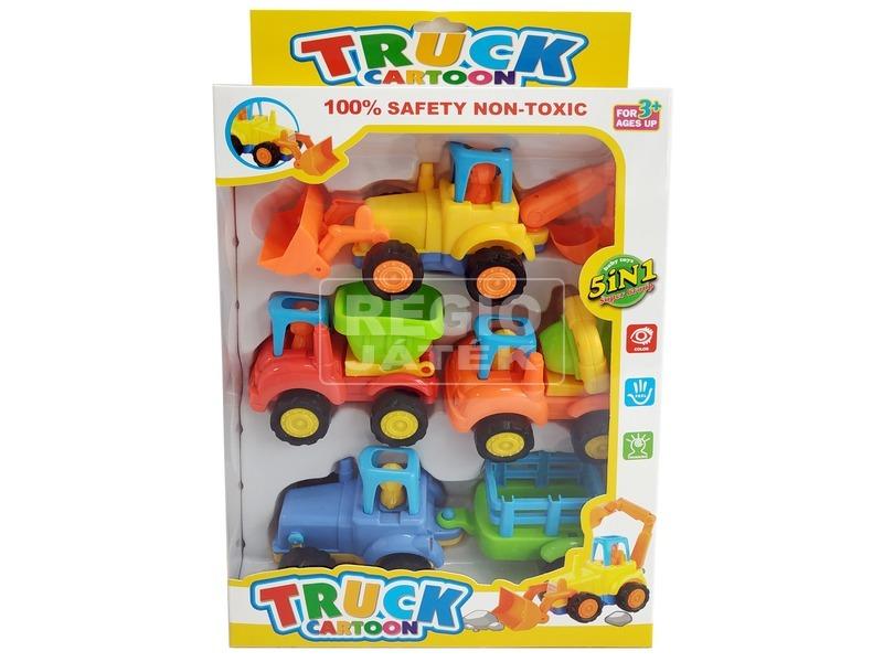 Cartoon Truck 4 darabos lendkerekes autókészlet