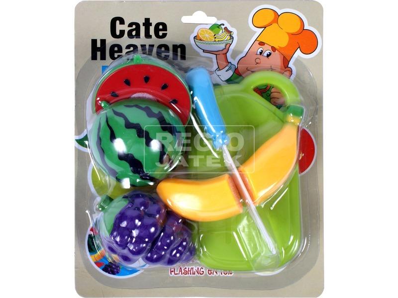Műanyag vágható gyümölcs 8 darabos készlet