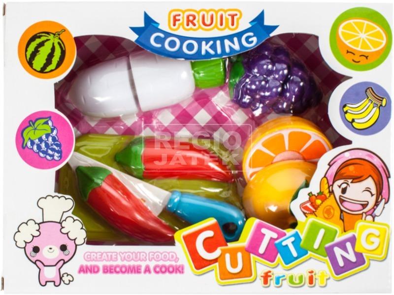 Műanyag vágható gyümölcs és zöldség 10 darabos készlet