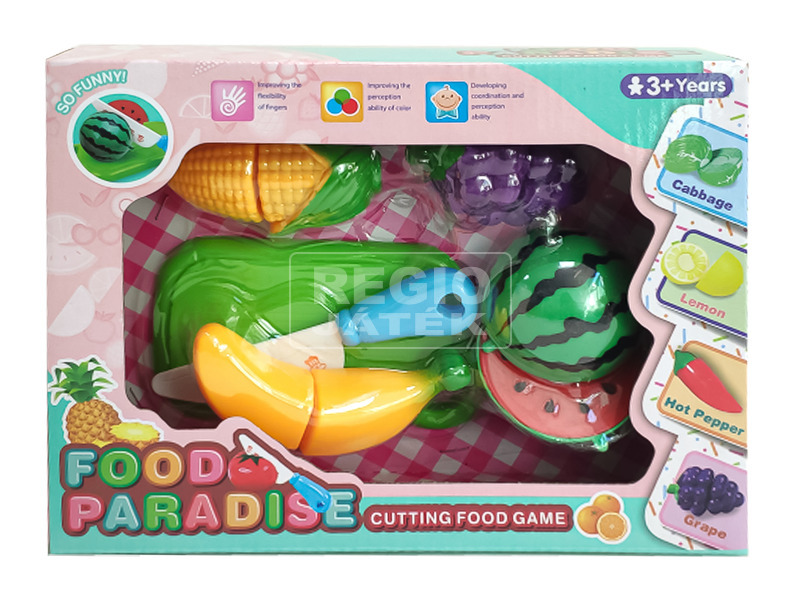 Műanyag vágható gyümölcs 10 darabos készlet