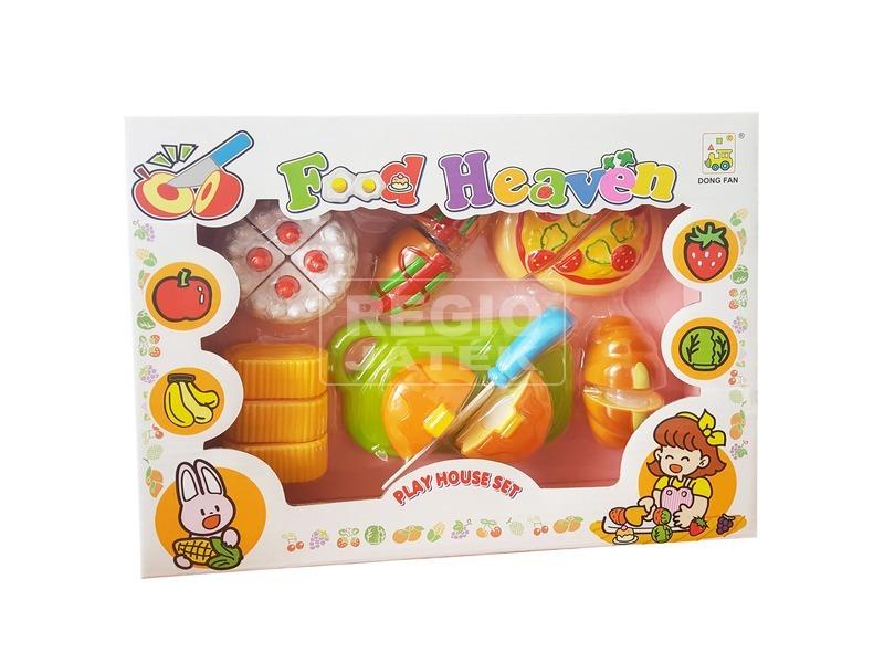 kép nagyítása Műanyag vágható gyümölcs és zöldség 14 darabos készlet