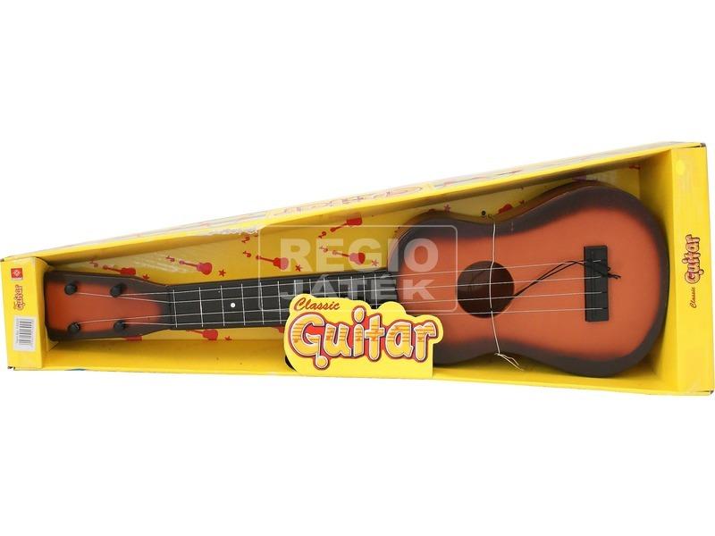 kép nagyítása Műanyag gitár fa mintázattal - 50 cm