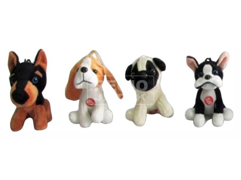 kép nagyítása Vinnyogó kutya plüssfigura - 12 cm, többféle