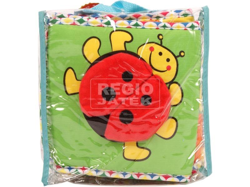 Textil babakönyv és rácsvédő bébijáték
