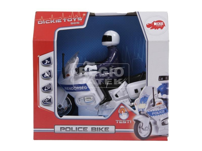 Műanyag rendőrmotor hanggal - 15 cm