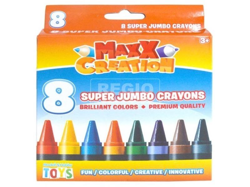 Maxx szuper tömzsi zsírkréta 8 darabos készlet