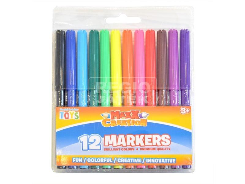 Maxx színes filctoll 12 darabos készlet