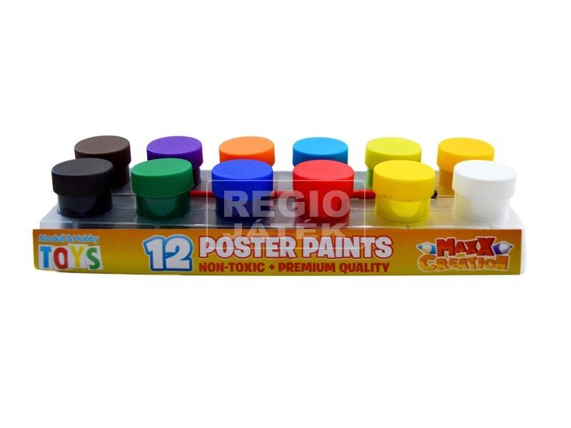 Maxx színes tempera 12 darabos készlet