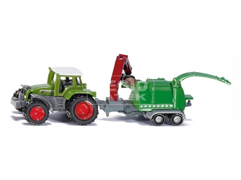 kép nagyítása Siku: Traktor fadarabolóval 1:87 - 1675