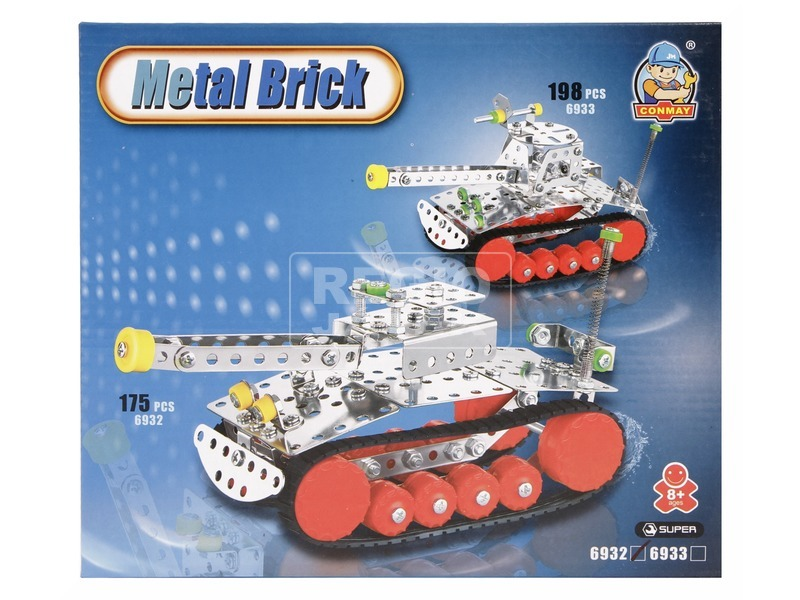 Tank 175 darabos fém építőjáték