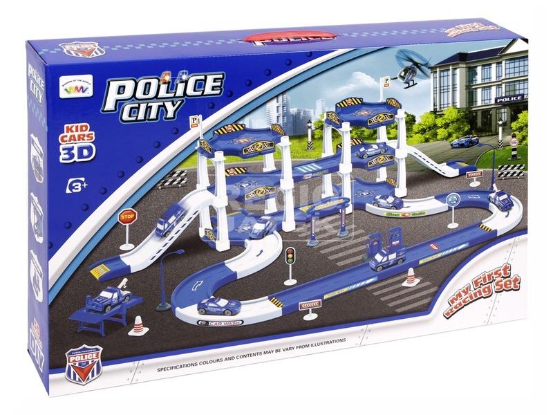 kép nagyítása Rendőrségi parkolóház kisautóval - nagy