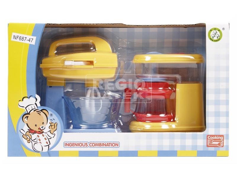 Konyhai keverőgép és kávéfőző - sárga