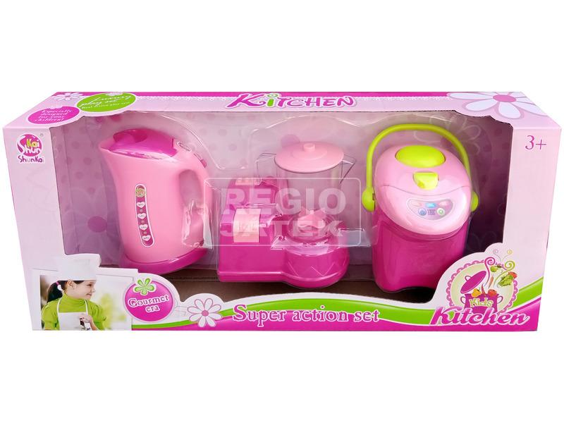 Konyhai eszköz készlet - rózsaszín