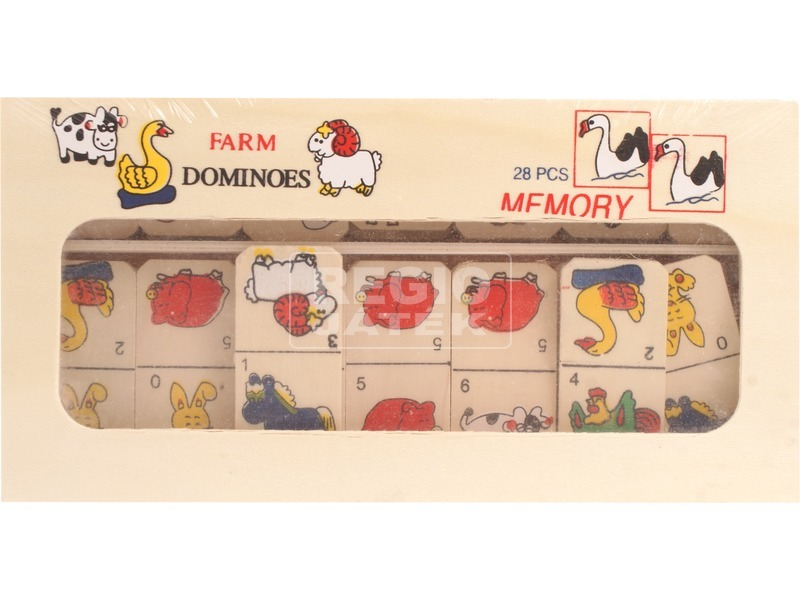 Farm 28 darabos dominó - ablakos dobozban