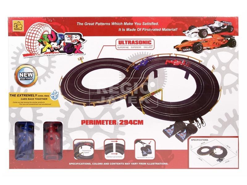 Super track elektromos versenyautó pálya - 294 cm