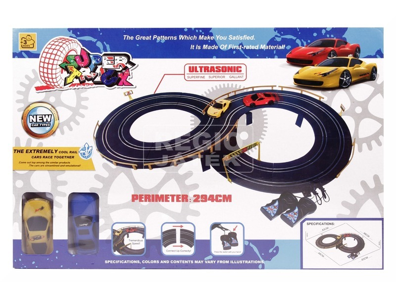 Super track elektromos sportautó pálya - 294 cm