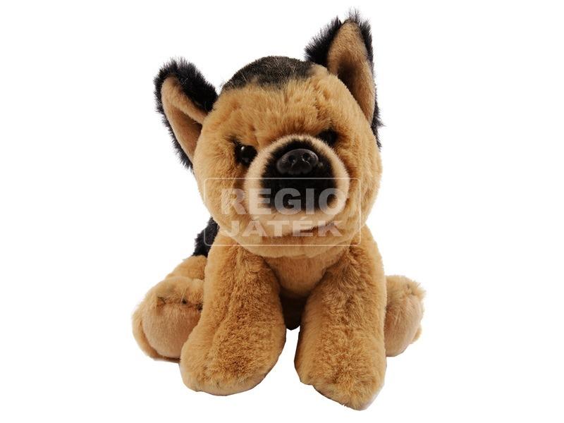 Kutya fekvő plüssfigura - 26 cm, többféle