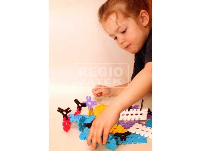 kép nagyítása Csilla műanyag 46 darabos építőjáték