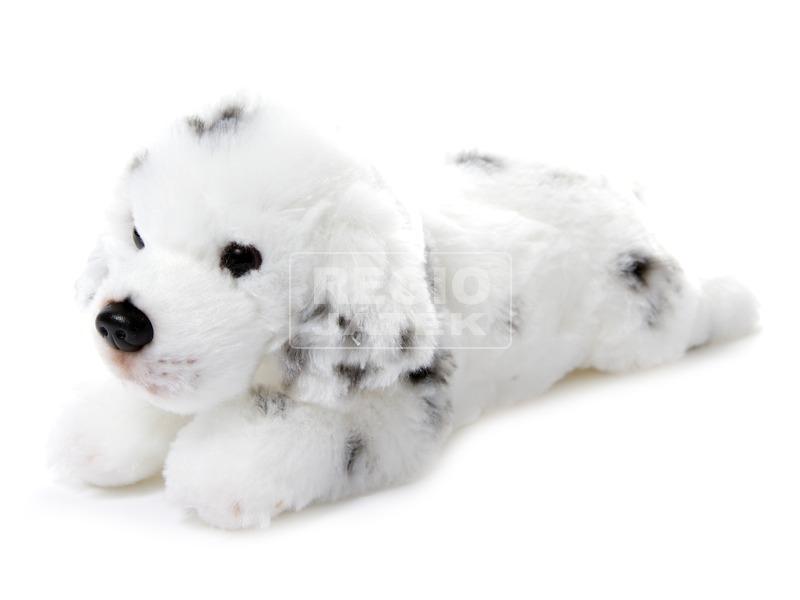 Kutya fekvő plüssfigura - 20 cm, többféle