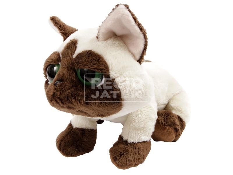 Sziámi cica nagy szemű plüssfigura - 23 cm