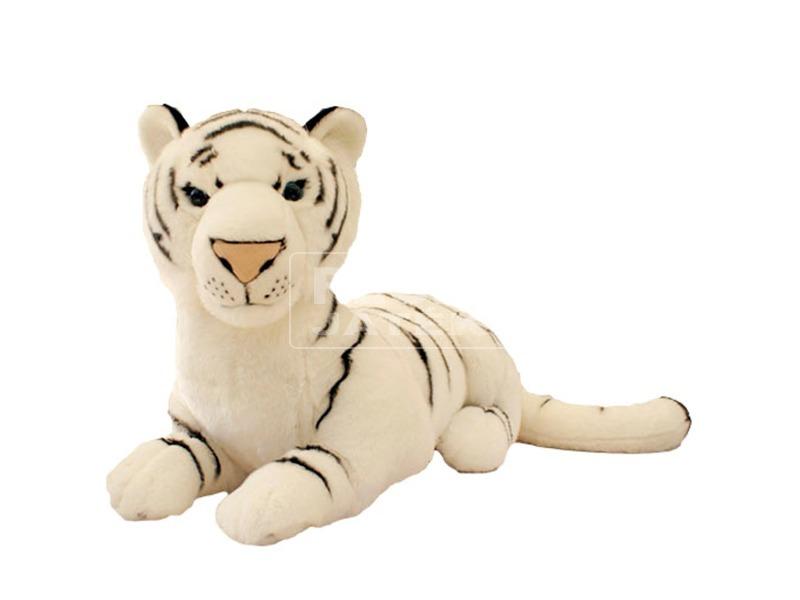 Fehér tigris fekvő plüssfigura - 75 cm 34fa1c6623