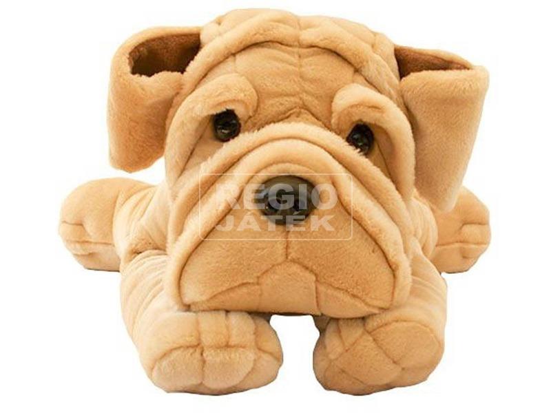 Sharpei kutya fekvő plüssfigura - 75 cm