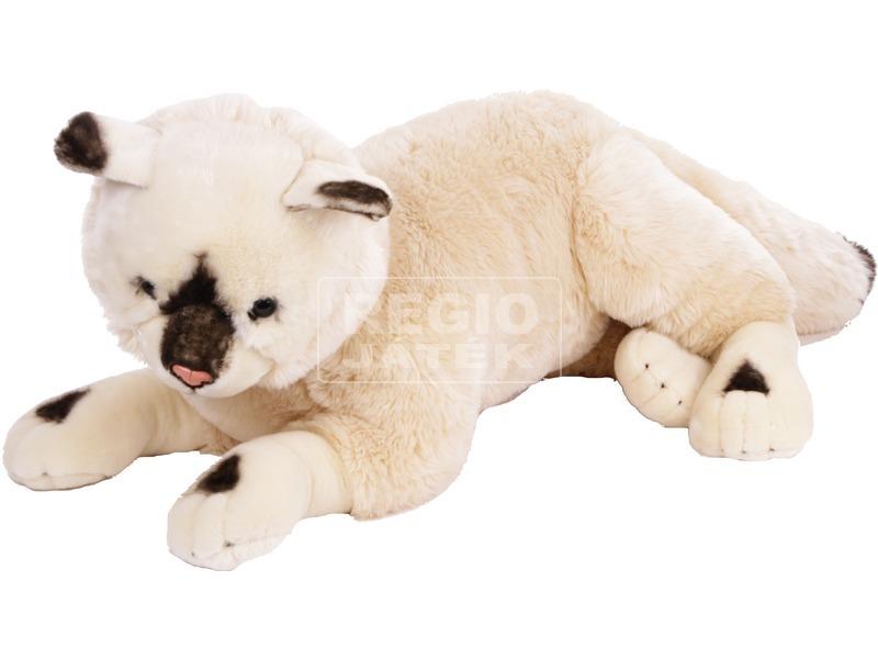 Sziámi cica fekvő plüssfigura - 75 cm