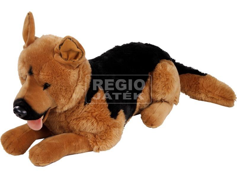Német juhász kutya fekvő plüssfigura - 75 cm