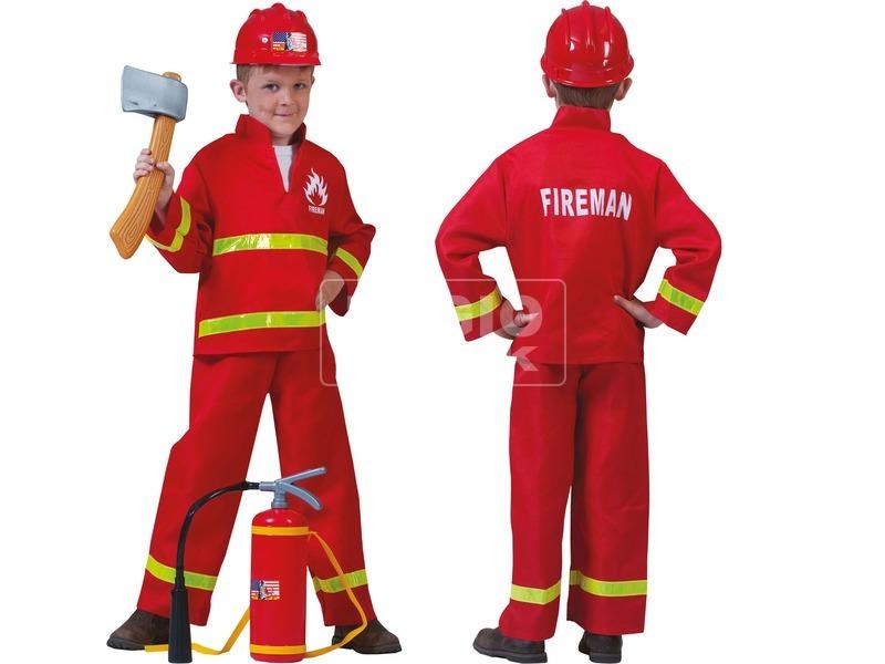 Tűzoltó jelmez - 116-os méret