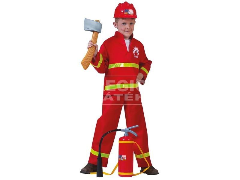 Tűzoltó jelmez - 140-es méret